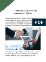 Lorenzo Suarez Corporate and Investment Banking