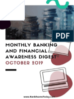 Monthly Banking&Financial Digest Oct 2019