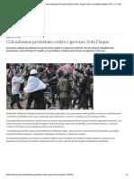 Colombianos protestam contra o governo Iván Duque _ Notícias sobre a América Latina e as relações bilaterais _ DW _ 22.11.2019