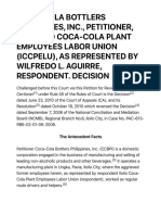 g.r. No. 195297 Coca Cola Bottlers Philippines Inc. Petitioner vs. Iloilo Coca Cola Plant Employees Labor Union Iccpelu as Represented by Wilfredo l. Aguirre Respondent.decision Supreme Court e Library
