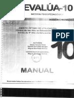 Manual Evalua 10 3.0