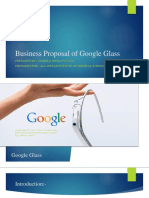 Business Proposal of Google Glass
