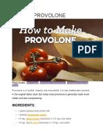 how to make provolo