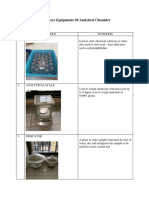 Laboratory Equipments of Analytical Chemistry