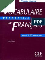 Vocabulaire Progressive du Français Niveau Avance + Corriges