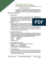 TDR Agua y Desague Condorillo Alto Final