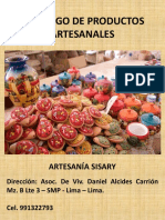 Catalogo de Artesania