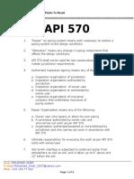02 API 570 Points to Recall