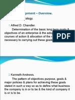 Strategic Management – Overview (2)