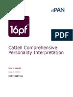 16 pf comprehensive interpretaion
