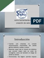 six sigma como creador de valor