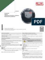 Manual Regulador Solar Piscinas Roth SW