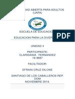 Educacion Para La Diversidad Tarea 2