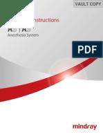 Manual Maquina de Anestesia Mindray A5