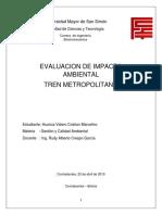 Impacto Ambiental - Tren Metropolitano