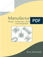 Manufacturing Design Production Automation and Integration