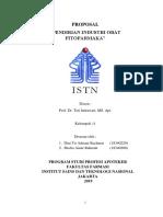 Kelompok 11 Proposal Farmasi Industri Fitofarmaka