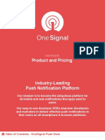 OneSignal Product and Pricing