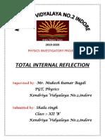 Tir physics investigatory project