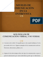 niveles de comunicacion en la entevista