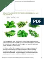 Ervas finas para dar sabor, saúde e beleza aos teus pratos - greenMe.com.br.pdf