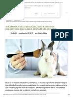 10 FAMOSAS MULTINACIONAIS DO RAMO DOS COSMÉTICOS QUE AINDA TESTAM EM ANIMAIS