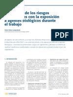 Evaluacion  riesgos  exposicion a agentes biologicos