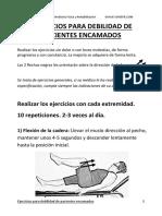 Sociedad Valenciana Medicina Fisica y Rehabilitacion Ejercicios Debilidad Pacientes Encamados