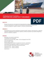 Brochure Gestión Logística y Aduanas