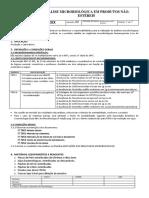 INSTRUÇÂO - Análise Microbiológica- Produtos Não Estéreis