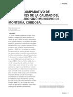 COMPARACION INDICES DE AGUA RIO SINU