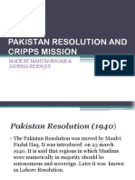 Pakistan Resolution and Cripps Mission