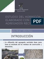 Estudio Del Hormigón Reciclado