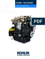 Manual Motor Kohler KDI1903M y 2504M