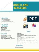 white with painting photo creative resume
