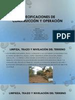 Trazo, Nivelacion y Excavacion de Zanjas