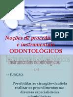 Aula de instrumentos odontologicos