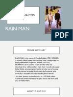 RAIN MAN Movie Analysis