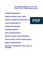THABO MBEKI'S NEW KWAITO CD IS OUT
