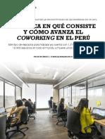 Avance del Coworking Perú