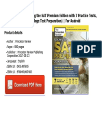 Cracking the SAT Premium Edition With 7 Practice