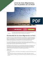 Día Mundial de Las Aves Migratorias_ ¿Qué Especies Se Pueden Ver en Perú_ - Viajar Por Perú
