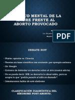 La Salud Mental de La Madre Frente Al Aborto -