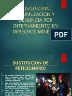 acumulacion, y denuncia opor internamiento en derechos minero