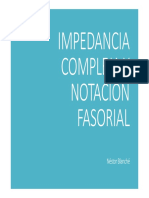 impedancia compleja y notacion fasorial