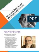 Ética Como Amor Propio Según Fernando Savater