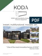 KODA Light Extended Minimum Equipment Fact Sheet 2018.07.17