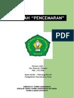 Makalah - Pencemaran_nur Rosman Hidayat