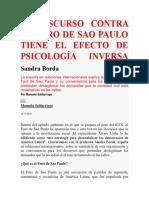 El Discurso Contra El Foro de Sao Paulo