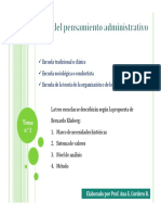 Tema 2, Pensamiento Administrativo [Modo de Compatibilidad]